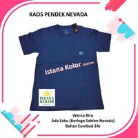 Kaos Pendek Polos Warna BIRU Kantong Oblong T-Shirt Nevada