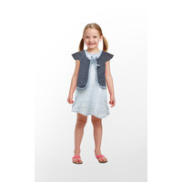 Setelan Dress Baju Anak Bayi Perempuan Blue Jeans - 3Y