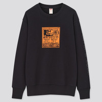 UNIQLO SWEATER MICKEY MOUSE x KEITH HARING SWEATSHIRT OUTERWEAR BLACK