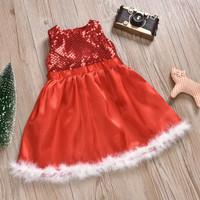 Christmas dress. Natal anak kids baju santa merah red kostum