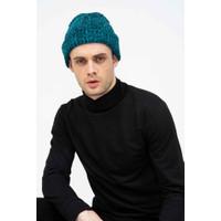 Topi Kupluk Rajut Beanie Hat Polos Topi Gunung biru dusty