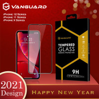 Vanguard Tempered Glass iPhone 12 Mini Pro Max Best Seller Full Cover - iPhone12 ProMax