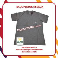Kaos Pendek Polos Warna ABU ABU TUA Kantong Oblong T-Shirt Nevada