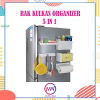 Kulkas Organizer Rak Magnet Multifungsi 5in1 Praktis