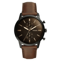 Jam Tangan Fossil FS5437 Townsman Chronograph Black Dial