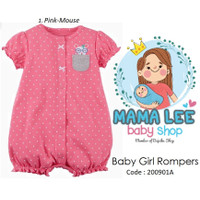 JUMPER BABY GIRL / OVERALL BAYI PEREMPUAN / ROMPERS / BAJU BAYI - Pink - Mouse, 6m