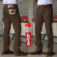 Grosir Celana Jeans Pria Regular Coklat/Brown Levis -Lois-Wrangler Gro