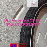 BAN LUAR SEPEDA 20 X 1.75 175 SWALLOW DELI TIRE 20X175 20X1.75 EXPORT