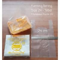 Kantong plastik BENING TEBAL 05 ukuran 24cm - 250gr/pack My Packaging