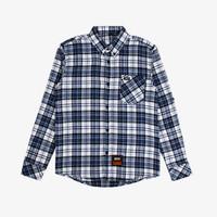 Geoff Max Official - Freecs Navy Stripe White   Kemeja   Flannel