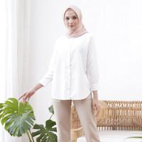 Wulfi Atasan Kemeja Daily Shirt White