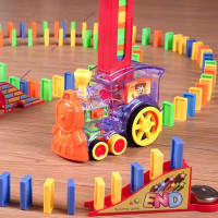 mainan edukasi anak mainan kereta api penyusun domino automatic domino