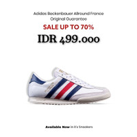 Sepatu Adidas Beckenbauer Allround Original - White France Gum - 39