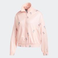 Jaket Adidas wanita floral - coral & black - Coral, XL
