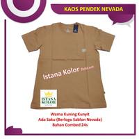 Kaos Pendek Polos Warna KUNING KUNYIT Kantong Oblong T-Shirt Nevada