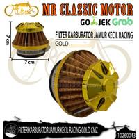 Filter Udara Karburator Jamur Kecil Racing Gold Custom Variasi