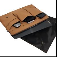 Tas Laptop List / Softcase Laptop / Tas selempang Laptop - Cokelat