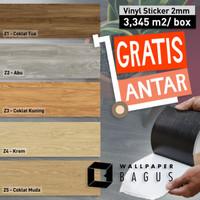 Lantai Vinyl Kayu Sticker 2mm - Vinyl Sticker motif kayu - Per BOX DIY - Pilihan Warna