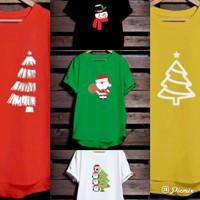KAOS NATAL TSHIRT CASUAL CHRISTMAS TREE SIZE ANAK-DEWASA