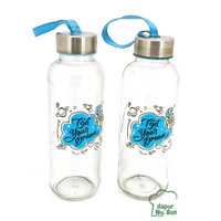Botol Minum Kaca Get Your Dream Ukuran 420ml / Botol Sedang