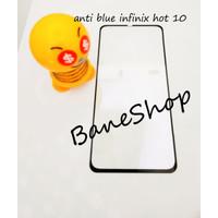 TEMPERGLASS INFINIX HOT 10 ANTI BLUE 5D FULL LEM FULL COVER