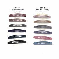 Basic Color TikTok Bang Hair Clip - Jepit Poni Salon Made in Korea