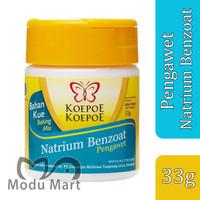 KOEPOE KOEPOE Natrium Benzoat 33g Cap Kupu Kupu Bubuk Pengawet Makanan
