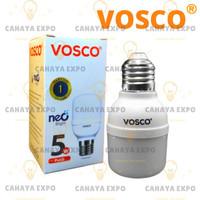 bohlam lampu led bulb tabung led capsule vosco 5w 5 w 5 watt putih led