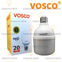 bohlam lampu led bulb tabung led capsule vosco 20w 20 w 20 watt putih