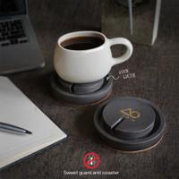 Coaster / tatakan gelas anti semut. Concrete - semen composite - Natural Finish
