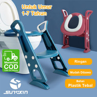 Baby Potty Chair Seat Toilet Training Pispot Anak Bayi Ladder Baby - Biru