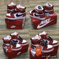 Sepatu Anak Nike Air jordan Hi Kids Red White Grade Original