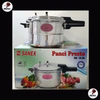 Sanex Panci Presto Kapasitas 12 liter SN 12.0L Bahan Titanium Alloy