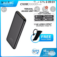 Power bank Acmic C10Pro .10,000mAh.Quick Charge 3.0+PD Pawer Delivery