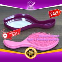 Glydelle Brush Sisir Plus Penutup Cermin Kaca 0655
