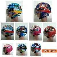 Helm Anak Retro Printing Karakter Kids Kekinian (Usia 1-5 Tahun) - Tayo