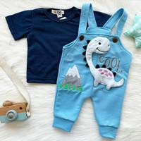 baju setelan overall anak bayi motif lucu murah bestseller