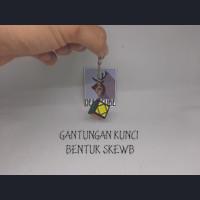 Gantungan Kunci Bentuk Rubik Skewb - keyring keychain key ring chain