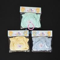 LIBBY 3 Set Sarung Tangan & Kaos Kaki Karet Bayi/Baby Warna (0-3M)