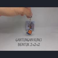 Gantungan Kunci Bentuk Rubik 2x2x2 - keyring keychain key ring 2x2