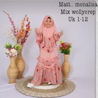 busana muslim feshion.1 set hijab - salem, 1-2-3umr3-4,5th