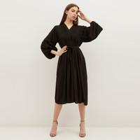 NONA Boho Dress Midi Black - Nona x Yure Collection
