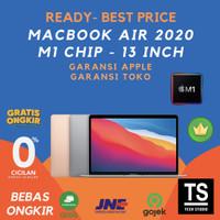 "Macbook Air 2020 13"" M1 Chip 8C CPU 7C GPU 16C 256GB Grey Gold Silve - Resmi inter, Grey MGN63"