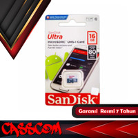Sandisk Ultra Micro SDHC 16GB 80MB/S UHS-I MICRO SD CLASS 10