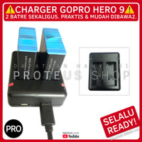 ✅ 2IN1 CHARGER CHARGING HUB BATTERY BATRE GOPRO HERO 9 ACTION CAM