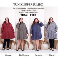 Tunik Jumbo 5XL TU5XL Baju Atasan Wanita Muslim Kemeja Panjang Busui