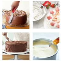 Cake Icing Cream Stainless Steel Spatula Buttercream Kue (1 set isi 3)