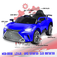 PROMO MVP2030 Lexus Mainan Anak Mobil Mobilan Aki Ban Karet Jok Kulit - Biru