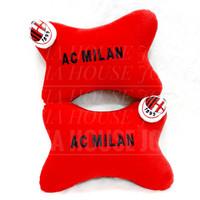 Car Pillow Set Club Bola Merah Hitam Putih Bantal Mobil Club bola