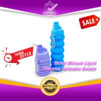 Botol Minum Lipat Silikon Portable Silicone Foldable Bottle 500ml 0656